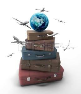 20523423-travel-bags-with-earth-and-airplanes