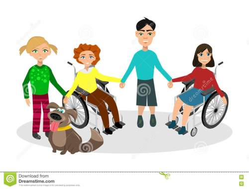 special-needs-children-friends-handicapped-vector-illustration-funny-kids-dog-71999162